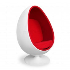 Eero Aarnio Egg Chair White/Red - Reproduction