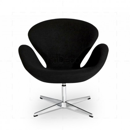 Swan Chair Black inspired by Arne Jacobsen