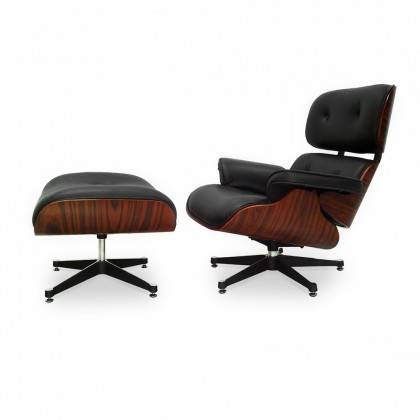 Charles Eames Lounge Chair and Ottoman Black ( Price Match ) - Reproduction