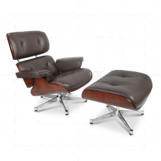 Eames Lounge chair And Ottoman Brown insp by Charles Eames