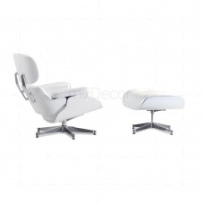 Eames Lounge Chair And Ottoman Pearl White - Reproduction