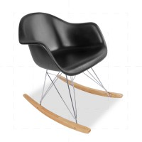 Eames RAR Rocking Chair Black insp by Charles Eames