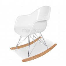 Eames RAR Rocking Chair White insp by Charles Eames