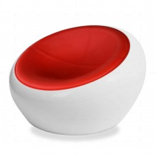 Half Dome Red Chair insp by Eero Aarnio