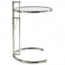 Adjustable Glass Table E1027 insp by Eileen Gray