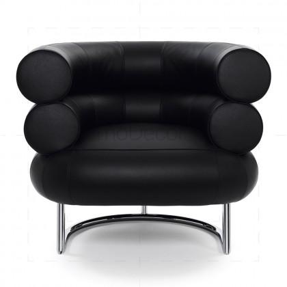 Bibendum chair inspired by Eileen Gray Chrome + Black - Reproduction