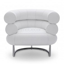 Bibendum chair inspired by Eileen Gray Chrome + White - Reproduction
