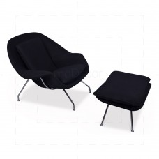 Womb Chair Black Wool insp by Eero Saarinen