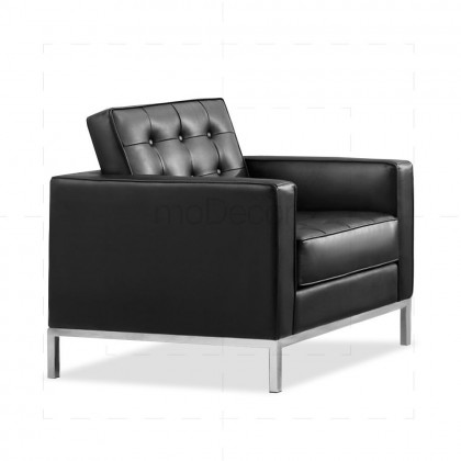 Florence Knoll Petite Sofa/Arm Chair by Florence Knoll Bassett Black - Reproduction