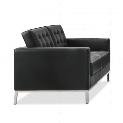 Florence Knoll Petite Sofa 2 Seat by Florence Knoll Bassett Black - Reproduction