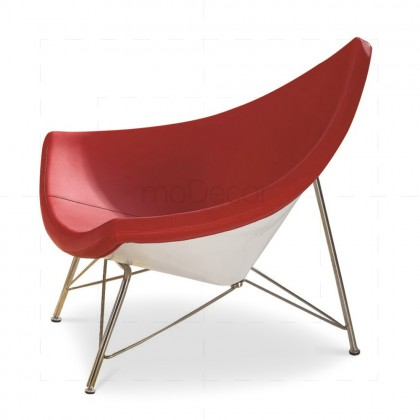 George Nelson Coconut Chair - Red Leather - Reproduction