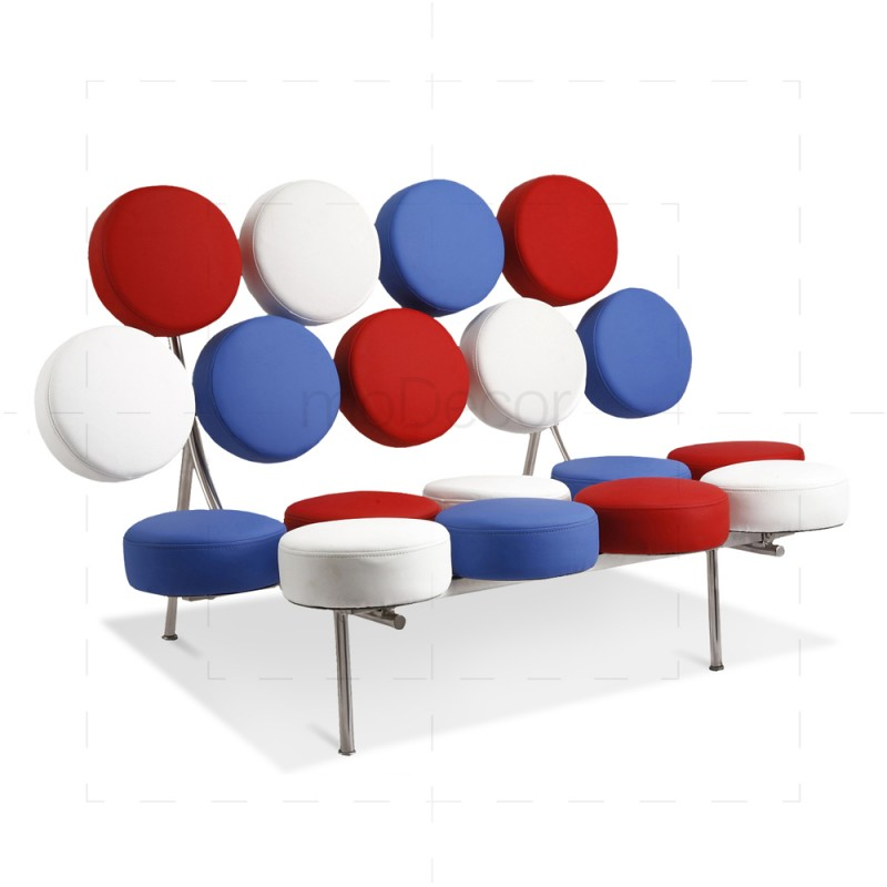 marshmallow sofa inspired by george nelson