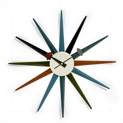 George Nelson - Sunburst Clock Multicolor - Reproduction