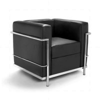 Le Corbusier LC2 Chair Black Leather - Reproduction