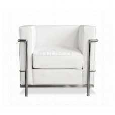 Le Corbusier LC2 Chair White Leather - Reproduction