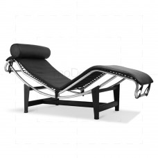 Le Corbusier Chair LC4 Chaise Lounge Black Leather - Reproduction