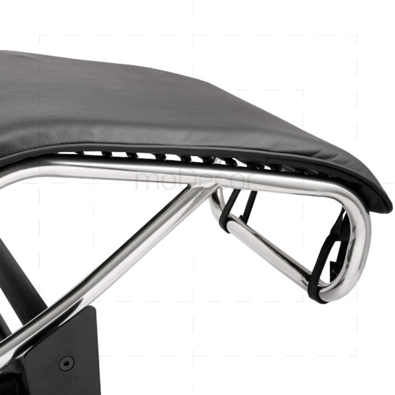 Le Corbusier Chair Lc4 Chaise Lounge Black Leather