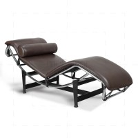 Le Corbusier Chair LC4 Chaise Lounge Brown Leather - Reproduction