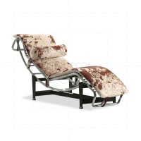 Le Corbusier LC4 Chaise Lounge - Pony Leather - Reproduction