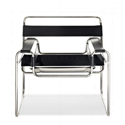 Wassily Chair by Marcel Breuer Chrome + Black - Reproduction