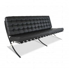 Barcelona Sofa - 3 seater Black Leather