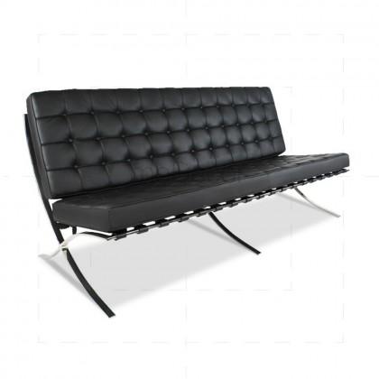 Barcelona Sofa - 3 seater Black Leather