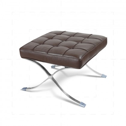 Barcelona Ottoman Brown Leather - Mies van der Rohe