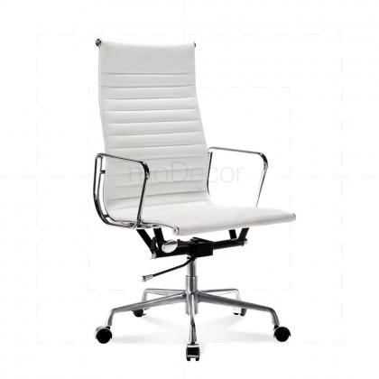 Eames Office Chair - Ribbed - High Back White - Reproduction