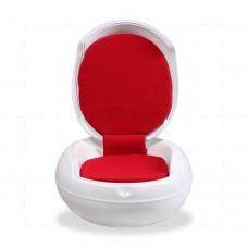 Ghyczy Outdoor Garden Egg Chair by Peter Ghyczy White/Red - Reproduction