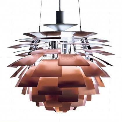 Artichoke Lamp Copper Insp by Poul Henningsen