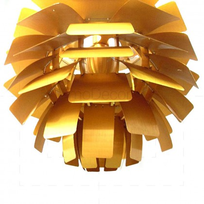 Artichoke Lamp Gold Ins by Poul Henningsen